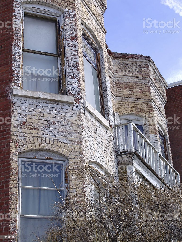 Profile of an old Balcony stock photo