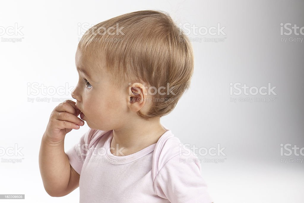 Profile of Baby royalty-free stock photo