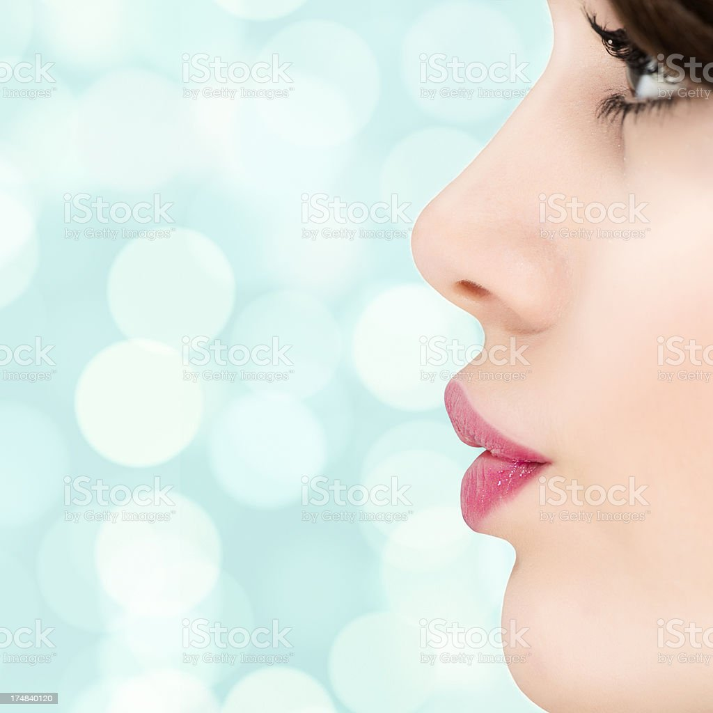 Profile of beautiful girls royalty-free stock photo