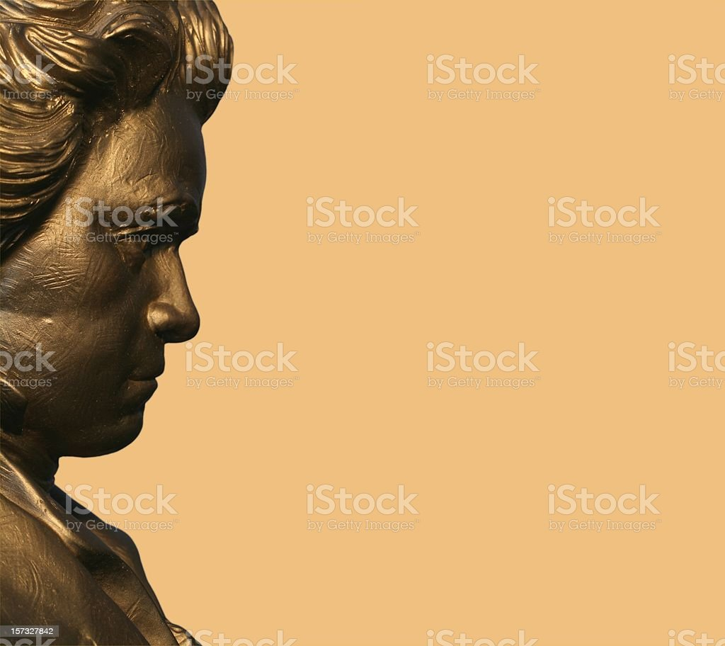 Profile of Beethoven stock photo