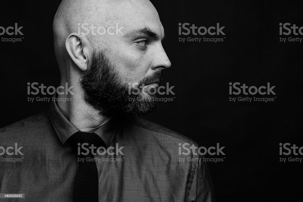 Profile of businessman stock photo