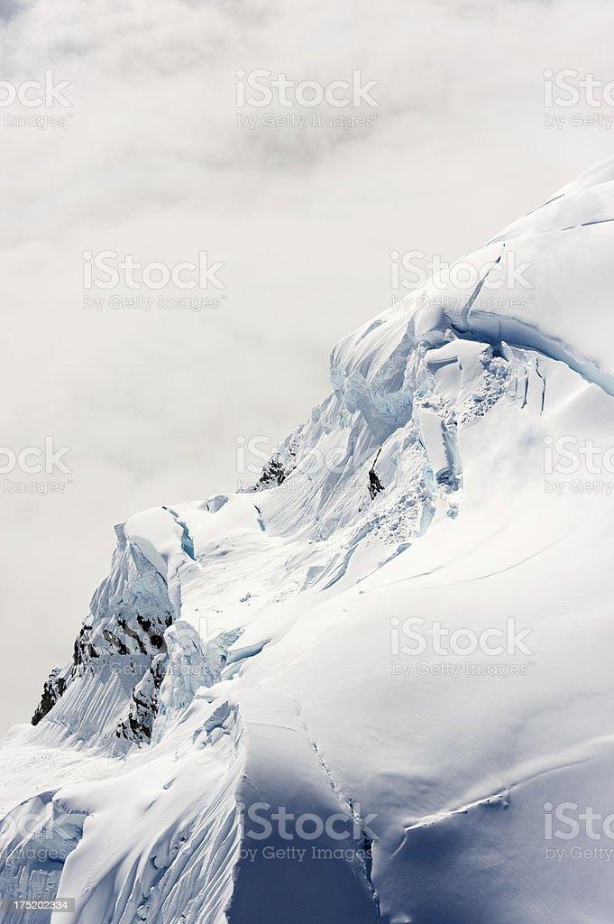 Profile of Mountain Top royalty-free stock photo