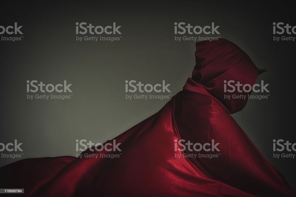 profile of Red Riding Hood stock photo