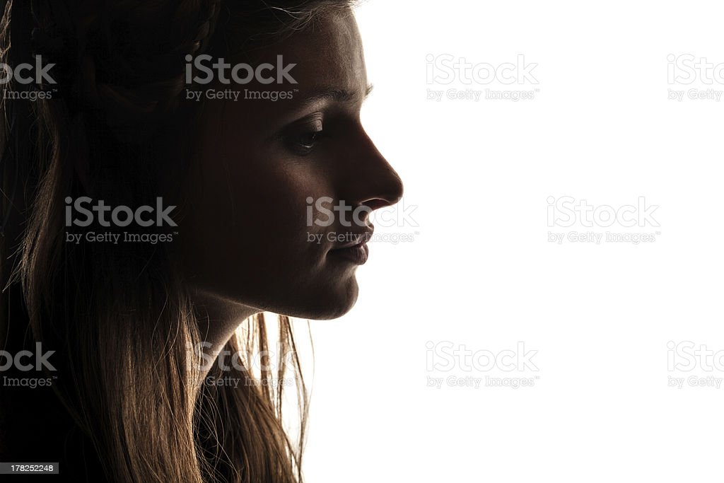 Profile Of Woman stock photo