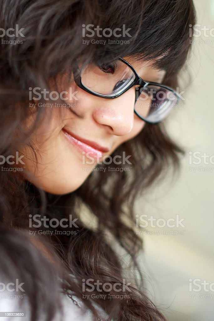 profile of young asian girl royalty-free stock photo