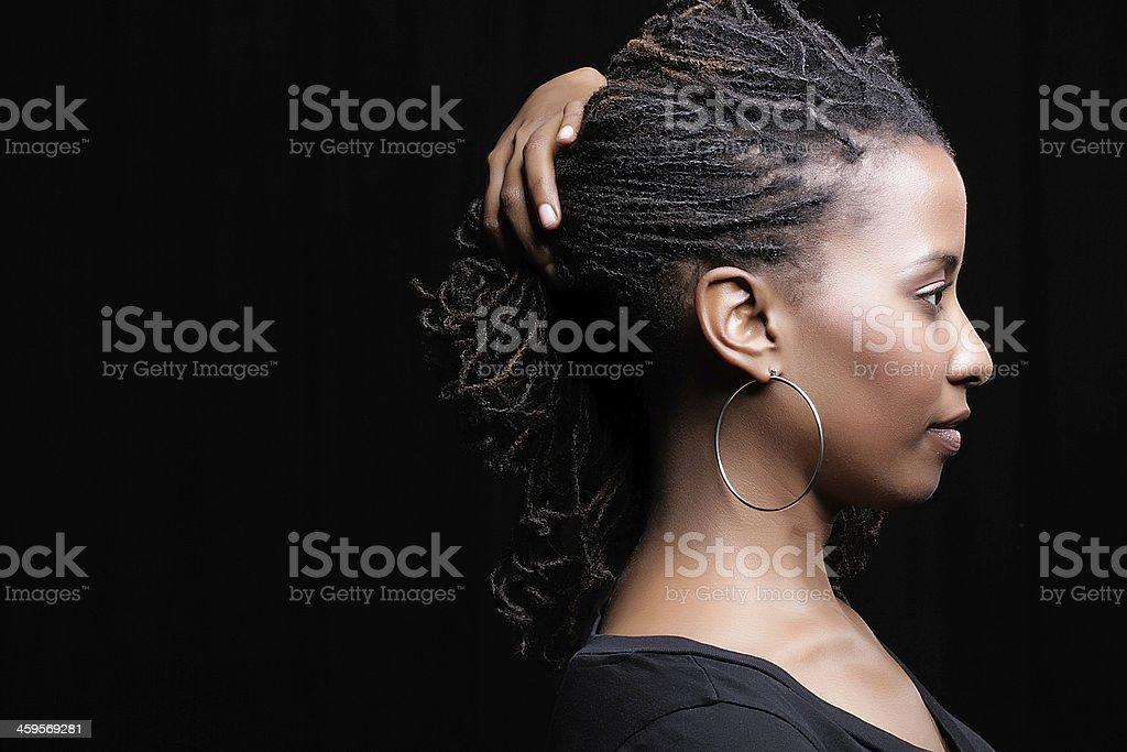 profile on black stock photo
