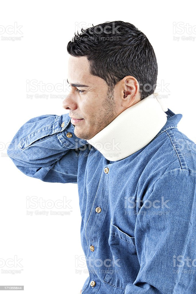 profile photo of injured worker royalty-free stock photo