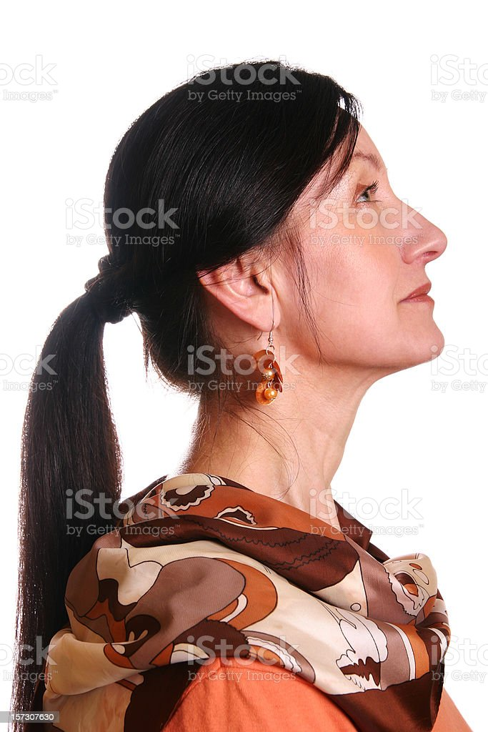 Profile stock photo