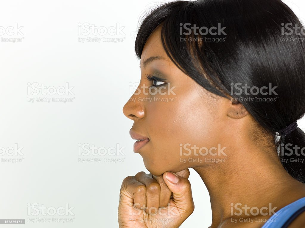 Profile picture of an afro-american woman royalty-free stock photo