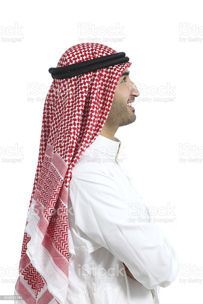 Profile portrait of an arab saudi emirates man stock photo