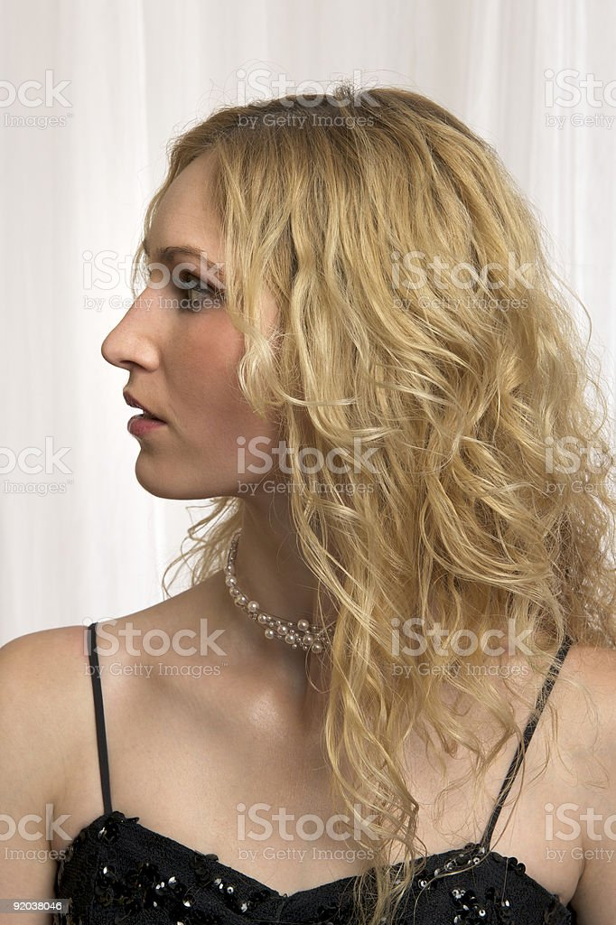 Profile view of German Girl royalty-free stock photo