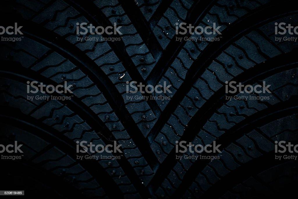 Profile winter tires stock photo