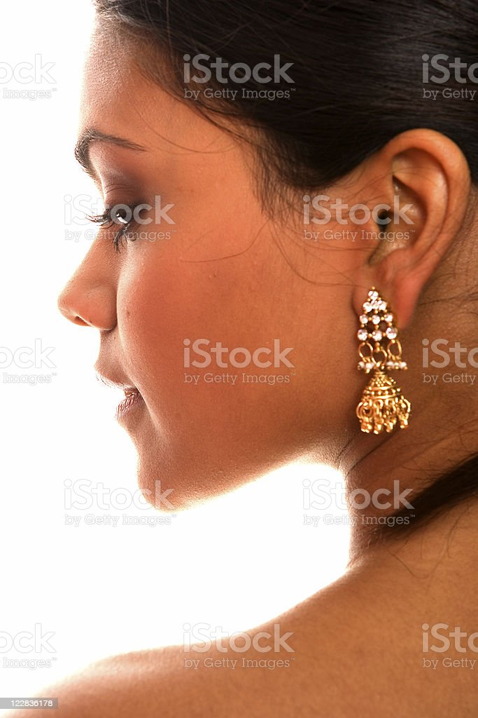 profile with earring royalty-free stock photo