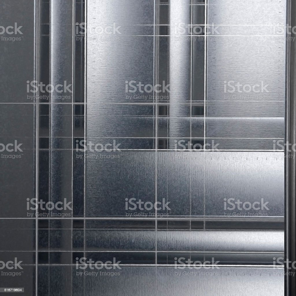 Profiled sheet of galvanized steel. Abstract material background composition stock photo