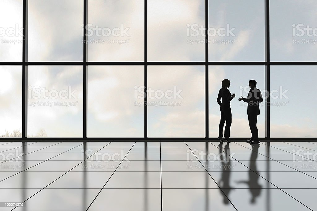 Profiles of Two Business People stock photo