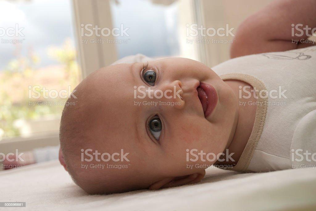 profilo bimba stock photo