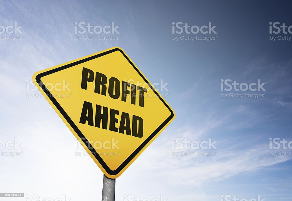 Profit Ahead royalty-free stock photo