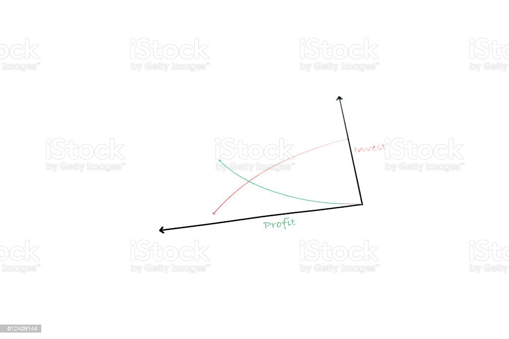 Profit and Investment Graph stock photo