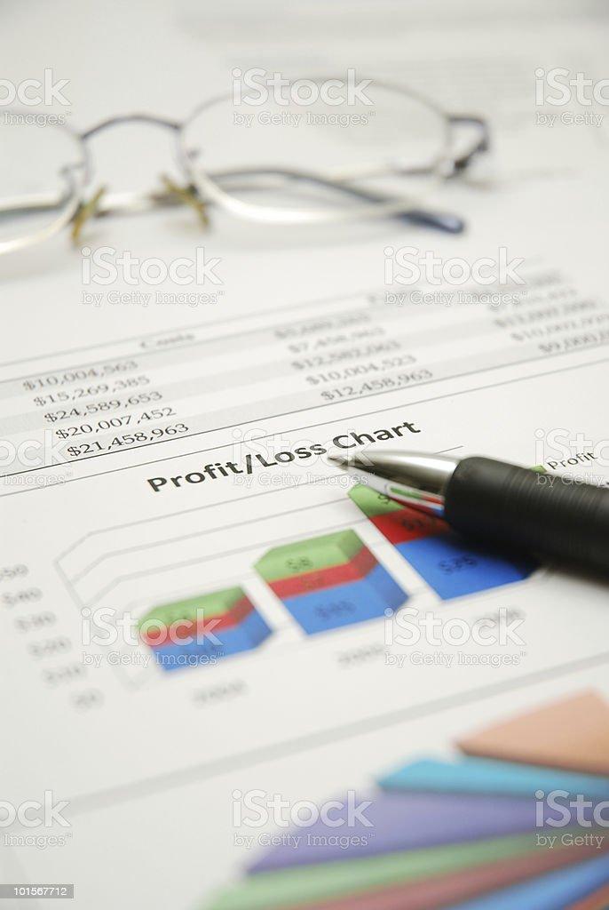 Profit and Loss Chart stock photo