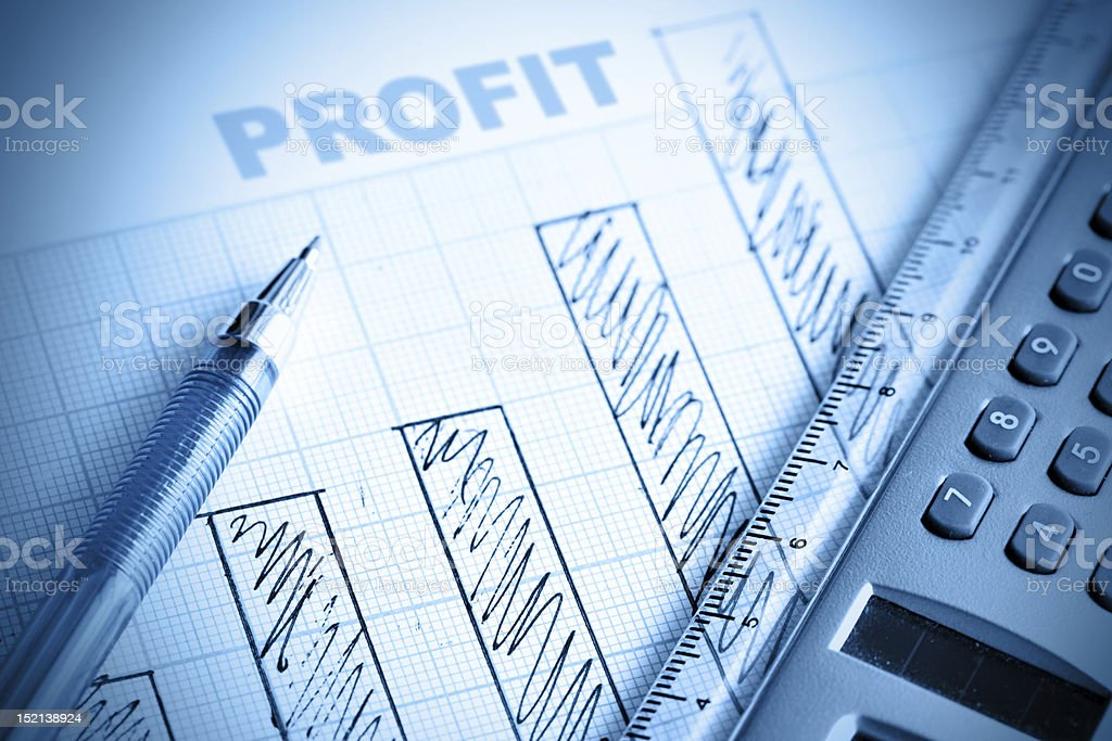 Profit bar chart stock photo