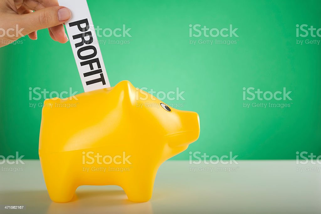 profit concept royalty-free stock photo