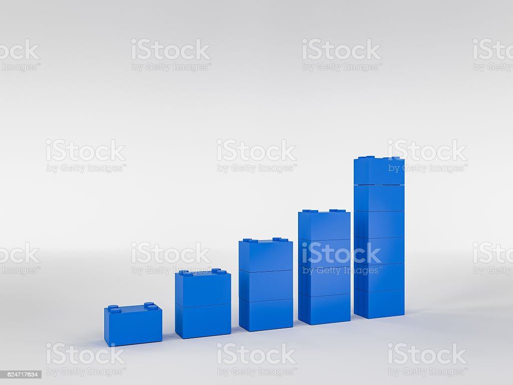 profit going up bar chart stock photo