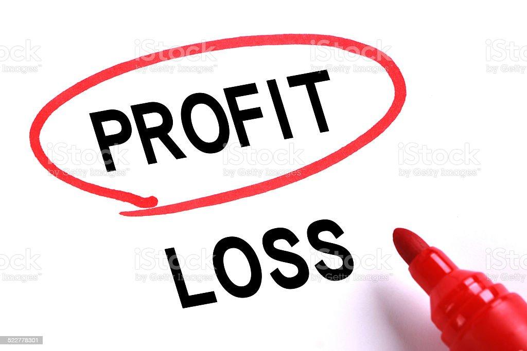 Profit, No Loss stock photo