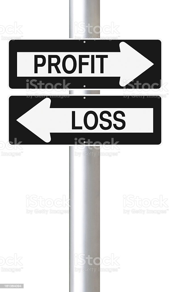 Profit or Loss royalty-free stock photo