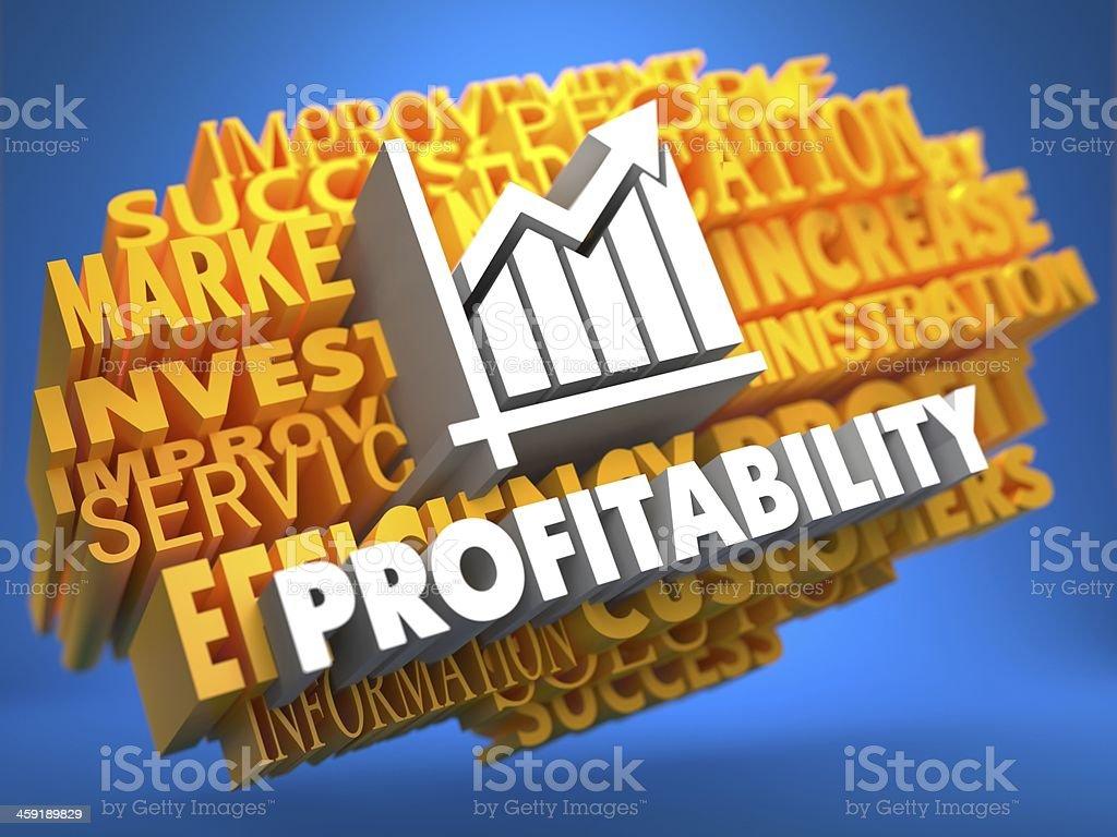 Profitability. Wordcloud Concept. stock photo