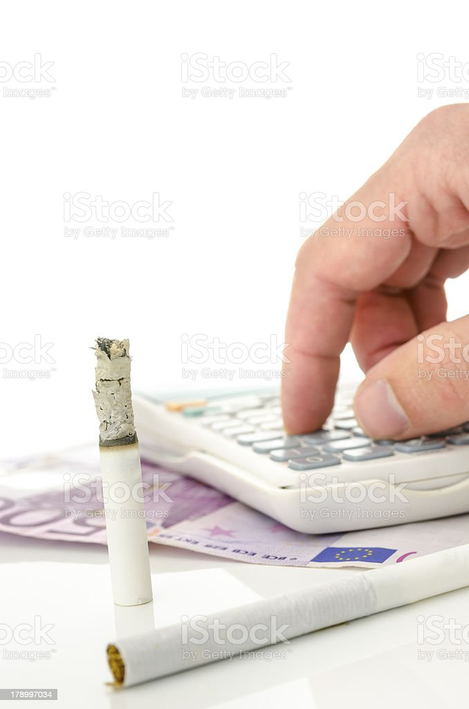 Profitable cigarette industry royalty-free stock photo