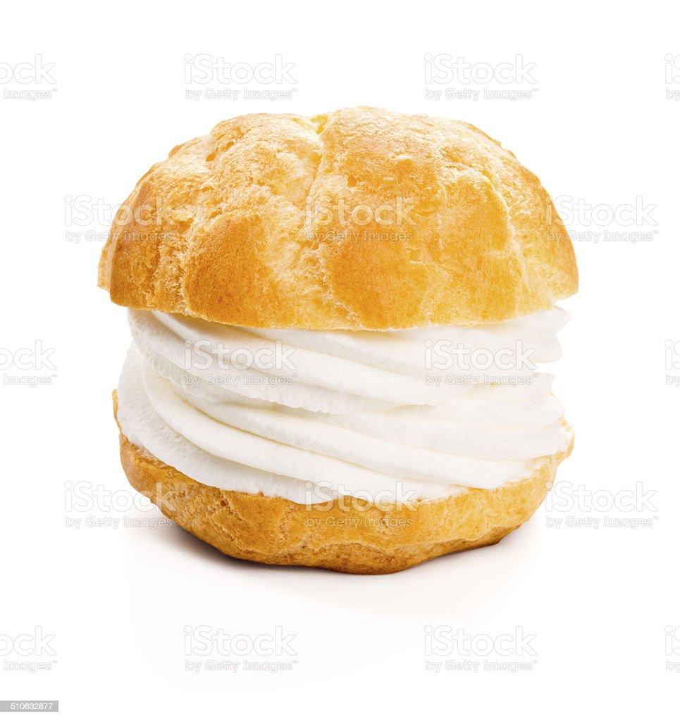 Profiterole or Cream Puff or Choux à la Crème stock photo