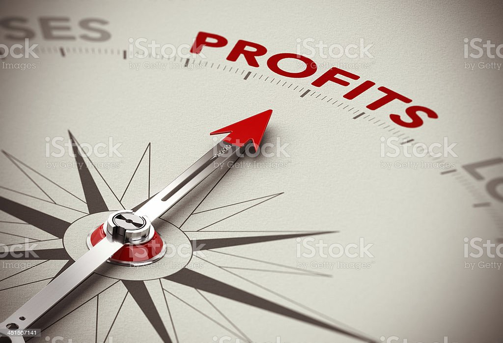 Profits Growth - Make Money stock photo