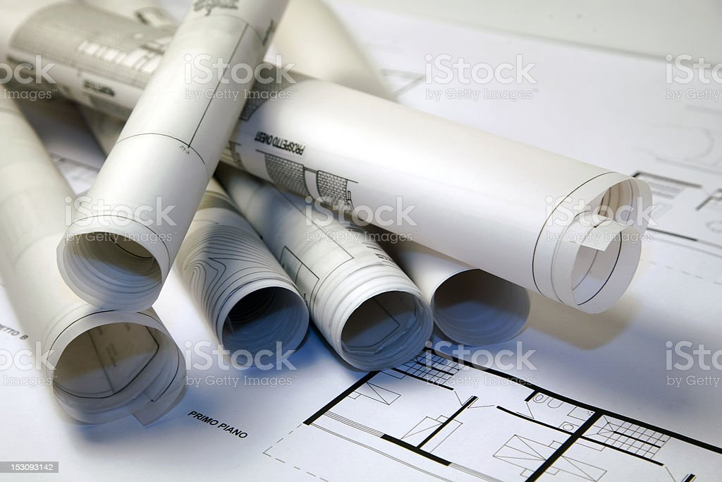 Progetti di architettura stock photo