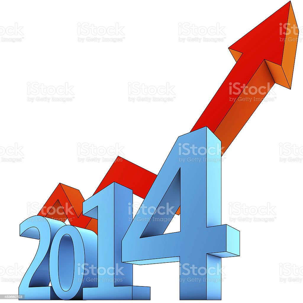 prognoses for 2014 stock photo