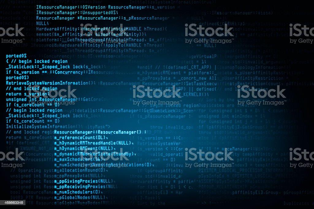 program code background screen stock photo