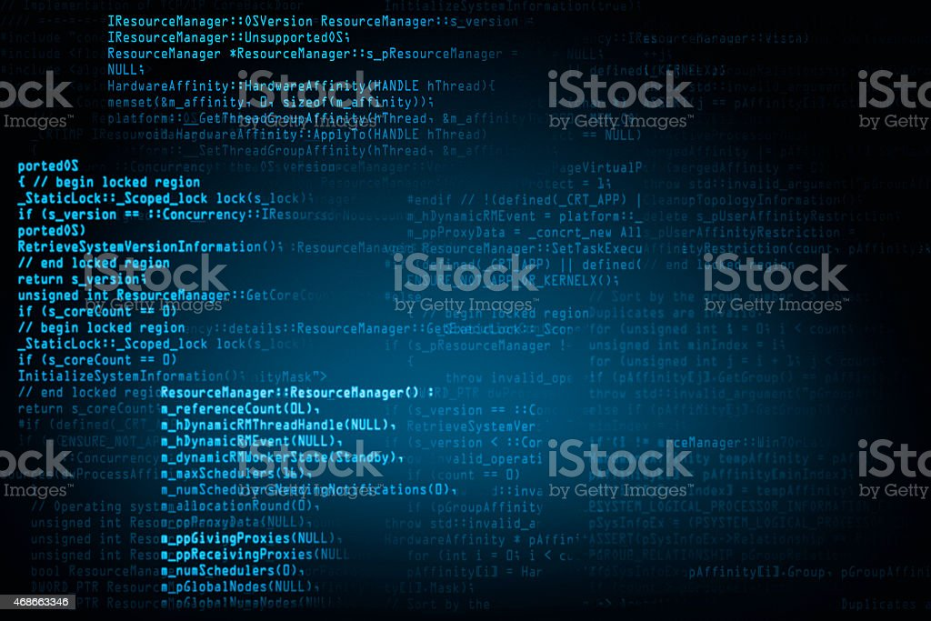 program code background screen stock photo
