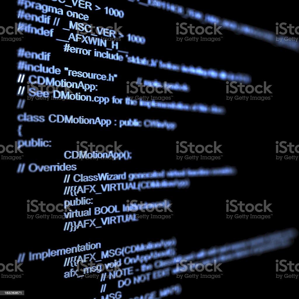 program code royalty-free stock photo