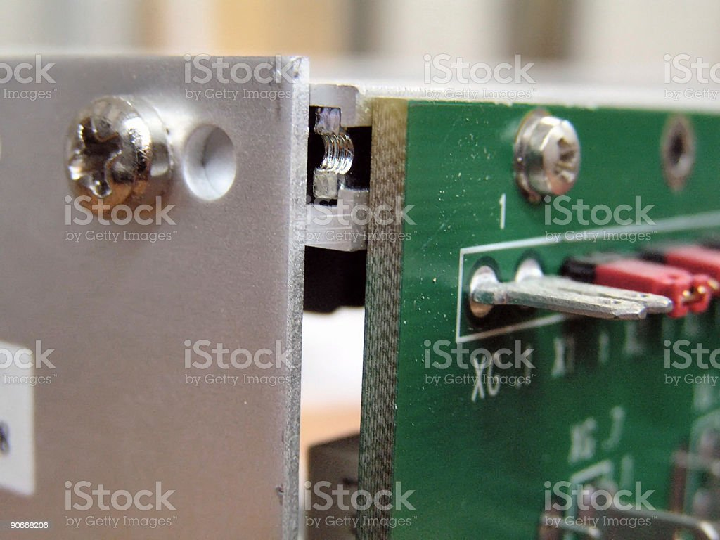 Programmable Logic Controller  industrial technology royalty-free stock photo