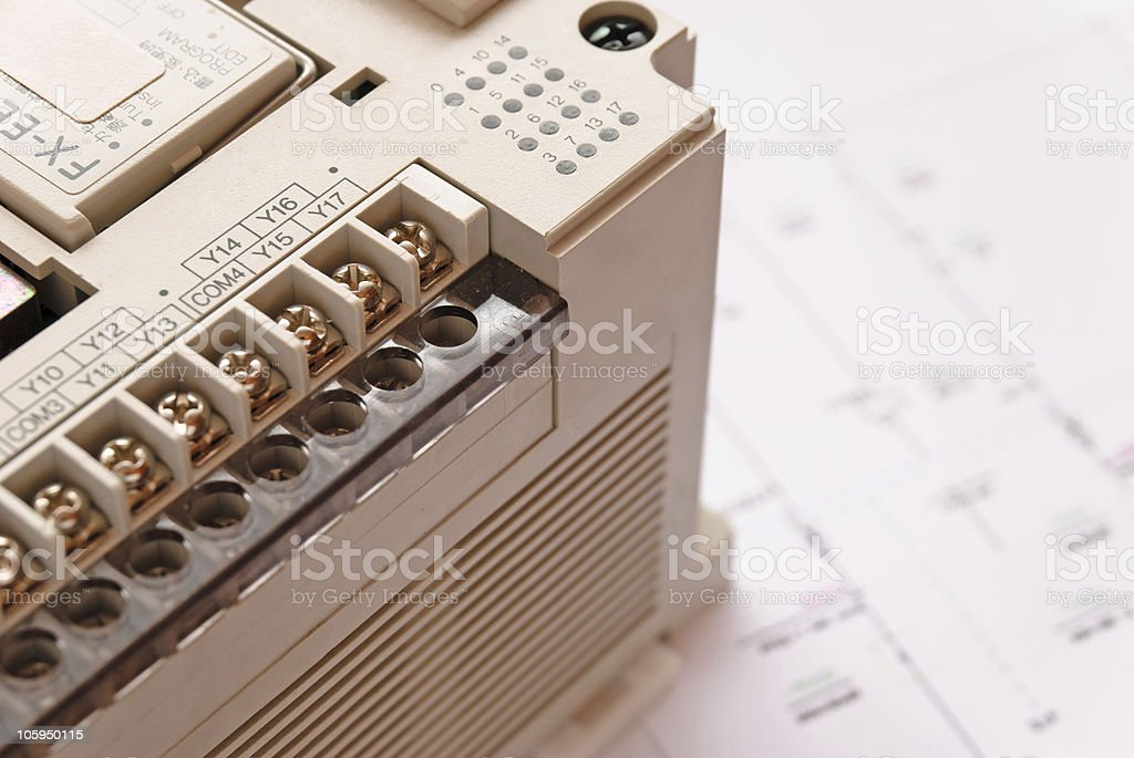 Programmable Logic Controller royalty-free stock photo