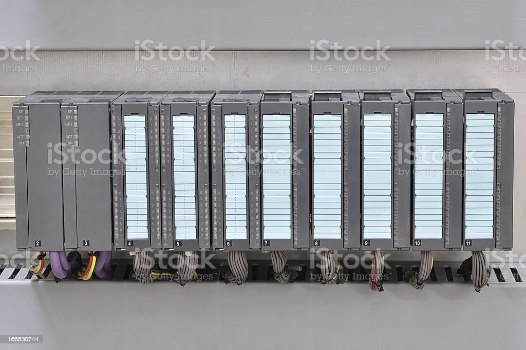 Programmable logic controller stock photo