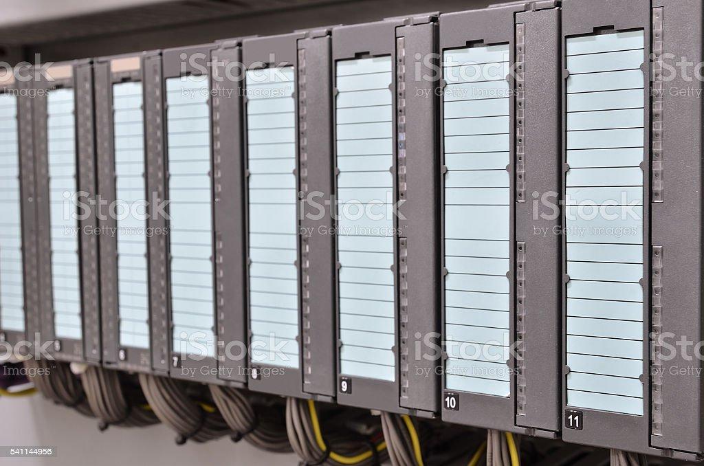 Programmable logic controller stock photo