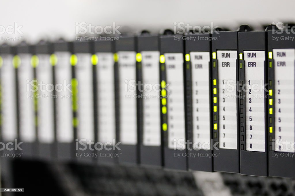 programmable logic controllers stock photo