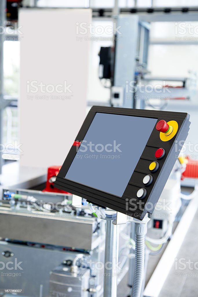 Programmable machine control panel royalty-free stock photo