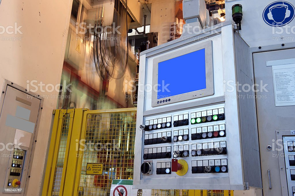 Programmable machine stock photo