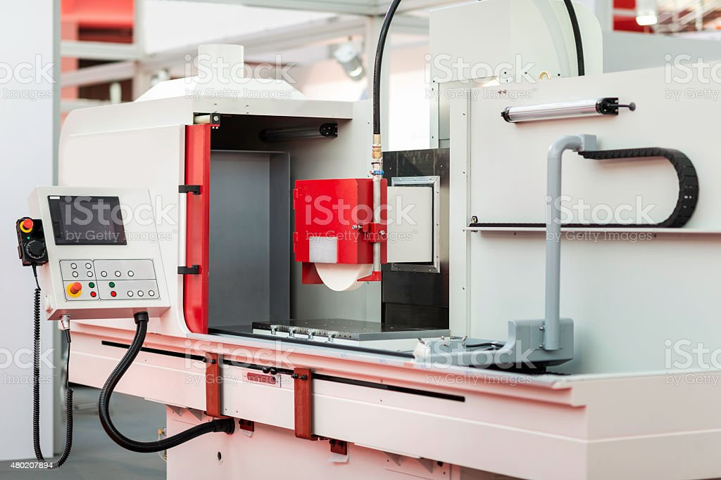 Programmable surface grinding machine stock photo
