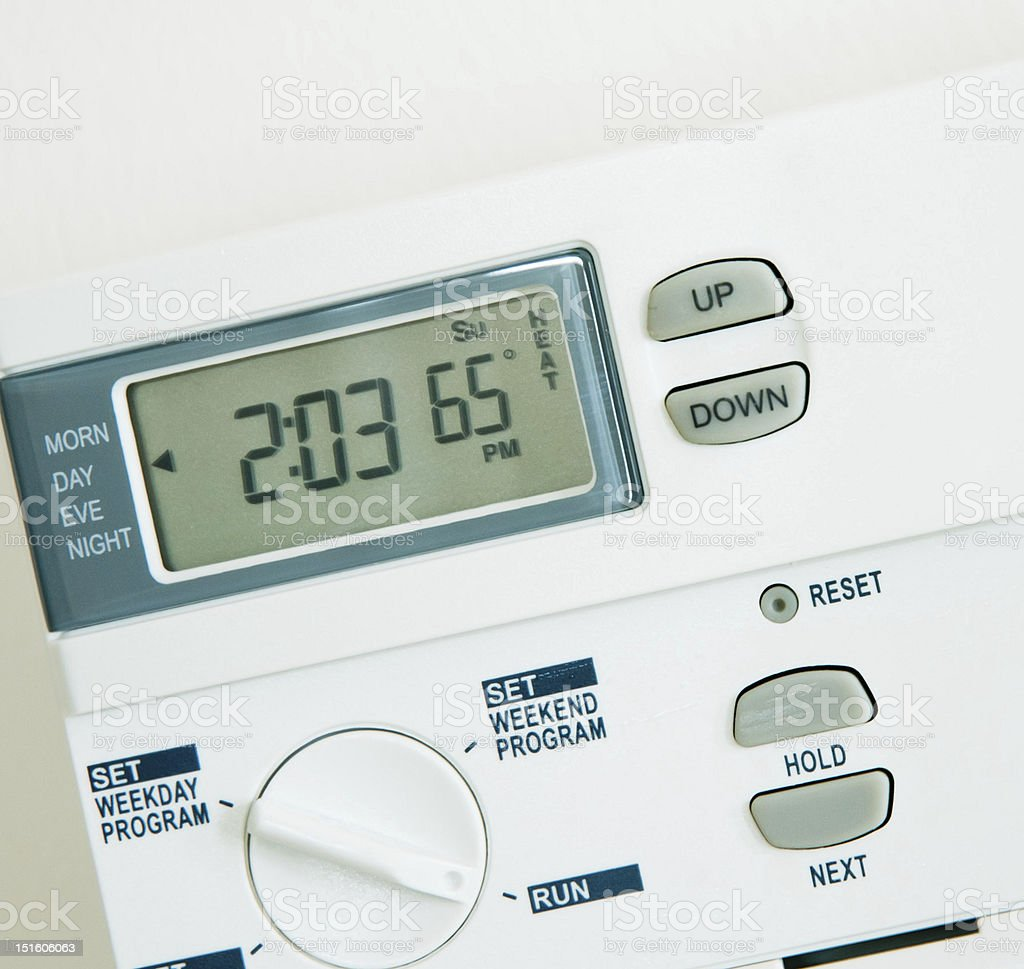 Programmable Thermostat Isolated stock photo