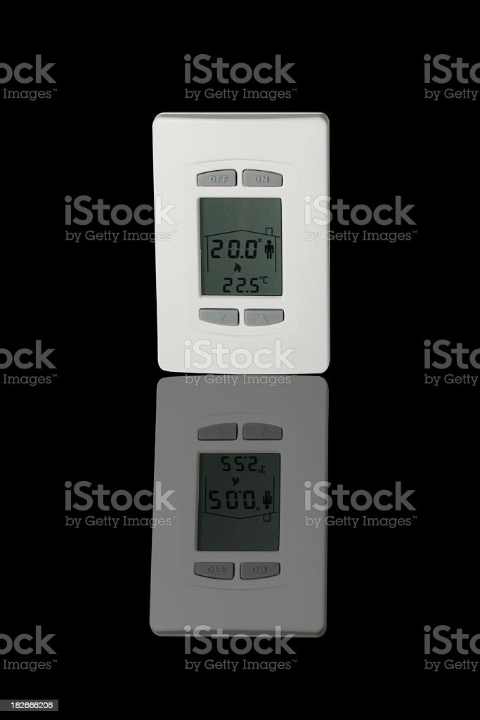 Programmable thermostat stock photo