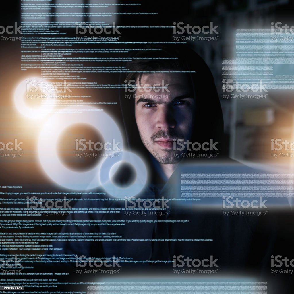 Programming is serious business stock photo