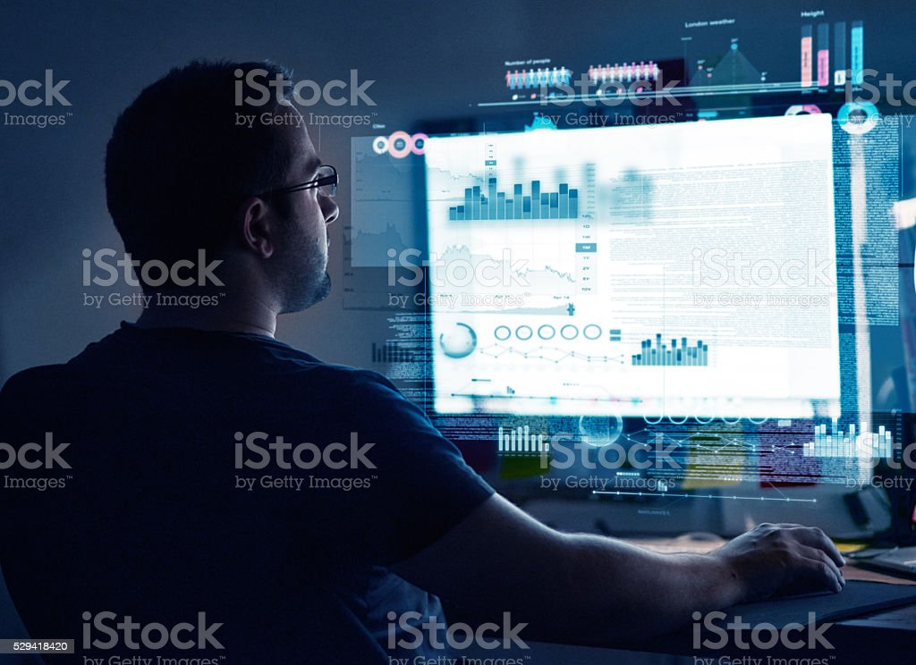 Programming new software stock photo