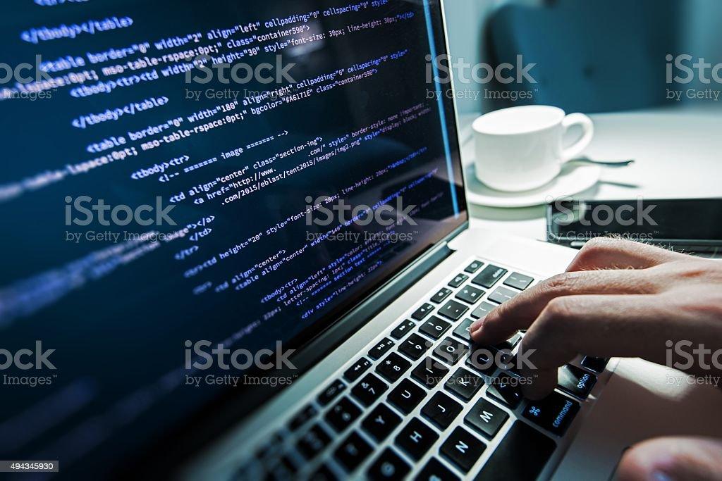 Programming Works stock photo